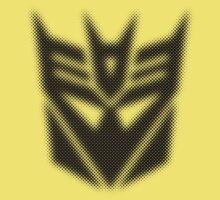 Halftone Decepticon Symbol, Black Kids Clothes