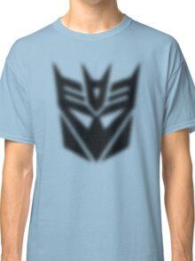 Halftone Decepticon Symbol, Black Classic T-Shirt