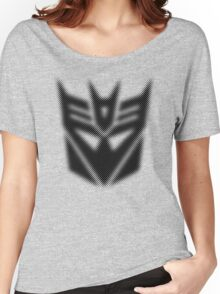 Halftone Decepticon Symbol, Black Women's Relaxed Fit T-Shirt