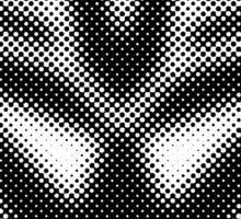 Halftone Decepticon Symbol, Black Sticker