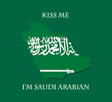 Kiss Me I'm Saudi Arabian Unisex T-Shirt