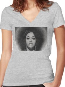 Black Beauty Women's Fitted V-Neck T-Shirt