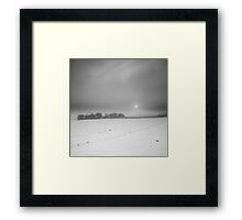 A Golden Promise Gets a Cold Reception BW Framed Print