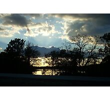 Shawnee Mission Park Sunset Photographic Print
