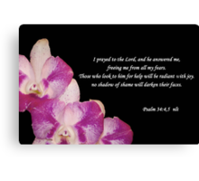 Psalms 34:4,5 Canvas Print