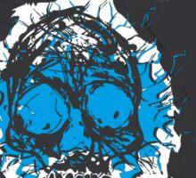 Death's-head blue Sticker