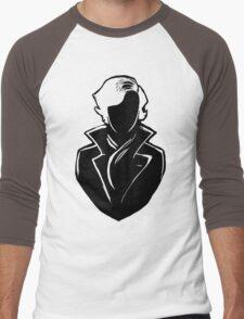 Sherlock Silhouette (Black) Men's Baseball ¾ T-Shirt