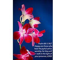 Psalm 89:15 Photographic Print