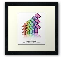 Shubie Rainbow Forest Framed Print