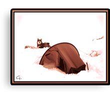 Snowcamp  2. (Enhanced) Canvas Print