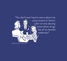 Drug Abuse White Unisex T-Shirt