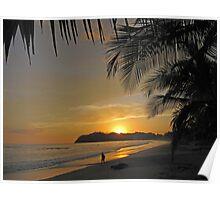 Samara Costa Rica Sunset Poster