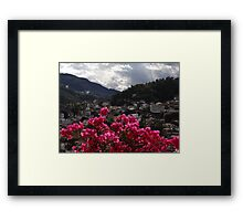 Sierra Madre With Bougainvillea - Sierra Madre Con Buganvilla Framed Print