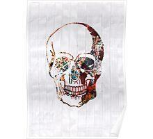 Futuristic skull Poster
