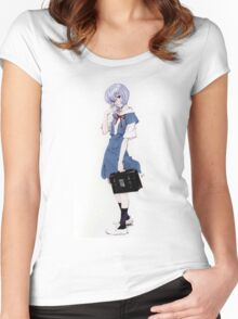 Ayanami Rei Evangelion Women's Fitted Scoop T-Shirt