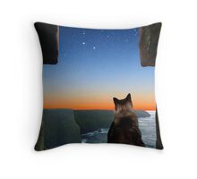 Pegasus over the Cliffs of Moher Throw Pillow
