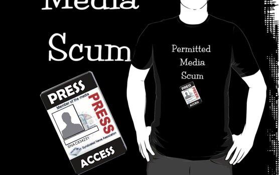 Permitted Media Scum Tee by patjila