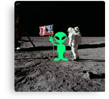 Moon Landing Alien Canvas Print