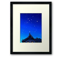 Cygnus the Swan and the Summer Triangle Framed Print