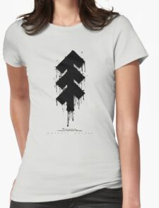 The Tree of Shubie Splattered Womens Fitted T-Shirt
