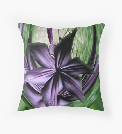 Purple Swoon Throw Pillow