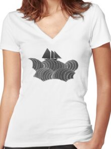 The Ancient Sea Women's Fitted V-Neck T-Shirt
