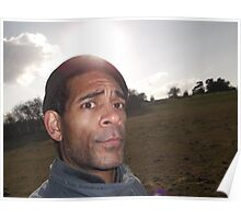 self-portrait/countryside -(010212)- digital photo Poster