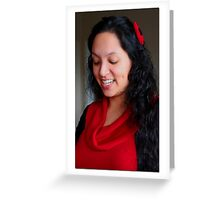 Dimpled Carmen Greeting Card