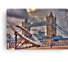 tower Bridge and Sundial Canvas Print