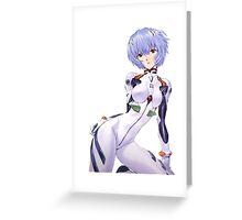 Ayanami Rei Evangelion Greeting Card