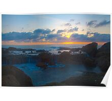 Sunsetting over Tidepool Poster