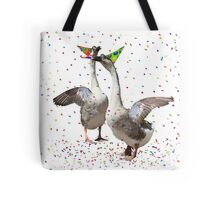 Confetti and Streamers Celebrating Geese  Tote Bag