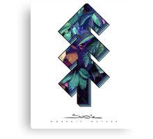 The Tree of Shubie Autumn Aqua Canvas Print