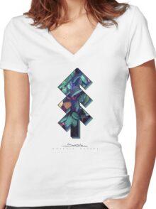 The Tree of Shubie Autumn Aqua Women's Fitted V-Neck T-Shirt