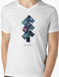 The Tree of Shubie Autumn Aqua Mens V-Neck T-Shirt