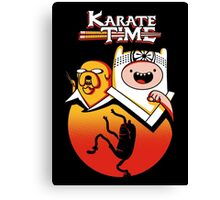Karate Time Canvas Print
