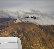 Approaching Queenstown from the Air 01 by Chris Cohen