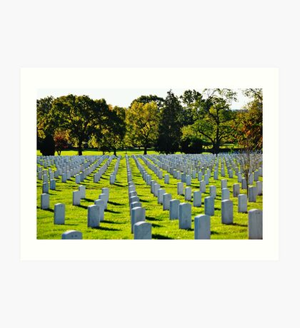 Bright Cemetery Art Print