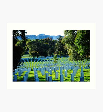 Blue Cemetery Art Print