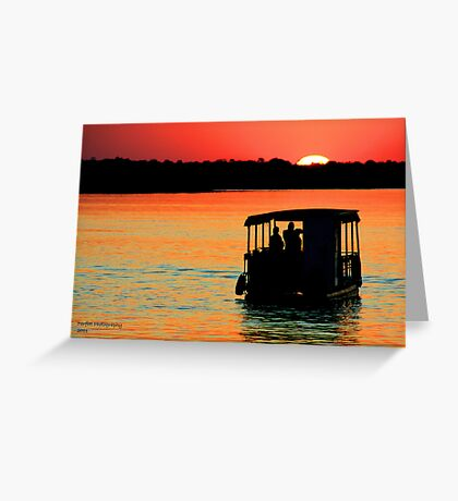 Zambezi Sunset Greeting Card