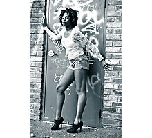 Graffiti & Legs Photographic Print