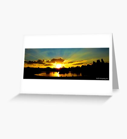 Sunset over tuks Greeting Card