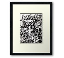 there's a fairy in my garden Framed Print
