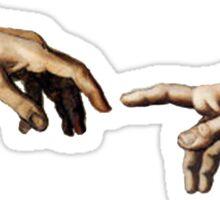 Creation Of Adam Hands Sticker