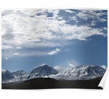 Clouds And The Sierras Poster