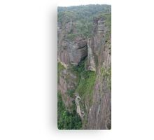 Grose Valley Cliff Face Panorama, Blue Mountains, NSW, Australia Canvas Print