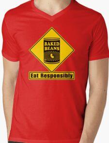 Baked Beans - Eat Responsibly! Mens V-Neck T-Shirt