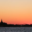 New Jersey Central Railroad Terminal at Sunset, Liberty State Park, Sunset View   by lenspiro