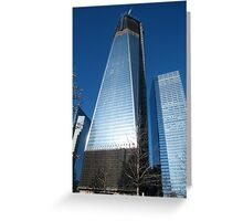 World Trade Center as Seen from 9/11 Memorial, New York Greeting Card
