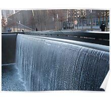 Waterfall at 9/11 Memorial, New York Poster